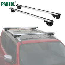 Partol Universal 120CM Car Roof Racks Cross Bars Crossbars 68kg 150LBS For Car With Side Rails Work With Kayak Cargo Ski Racks(China)