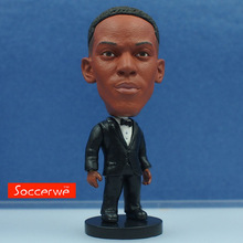 Soccerwe 6.5 cm Height Football Star Doll Resin Anthony Martial in Bow Tie Suit Black