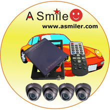 2 channel car dvr 4-ch car dvr professional car dvr GPS surveillance system with CCTV dome cameras optional from Asmile