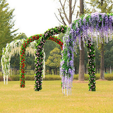 2017 Artificial Wisteria Flowers Vine Silk Flower Wedding Garden Party Hanging Decor