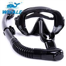 2017 NEW Unisex Diving Silicone Tempered Lenses Mask Dry Snorkel Set MSK-1000-100
