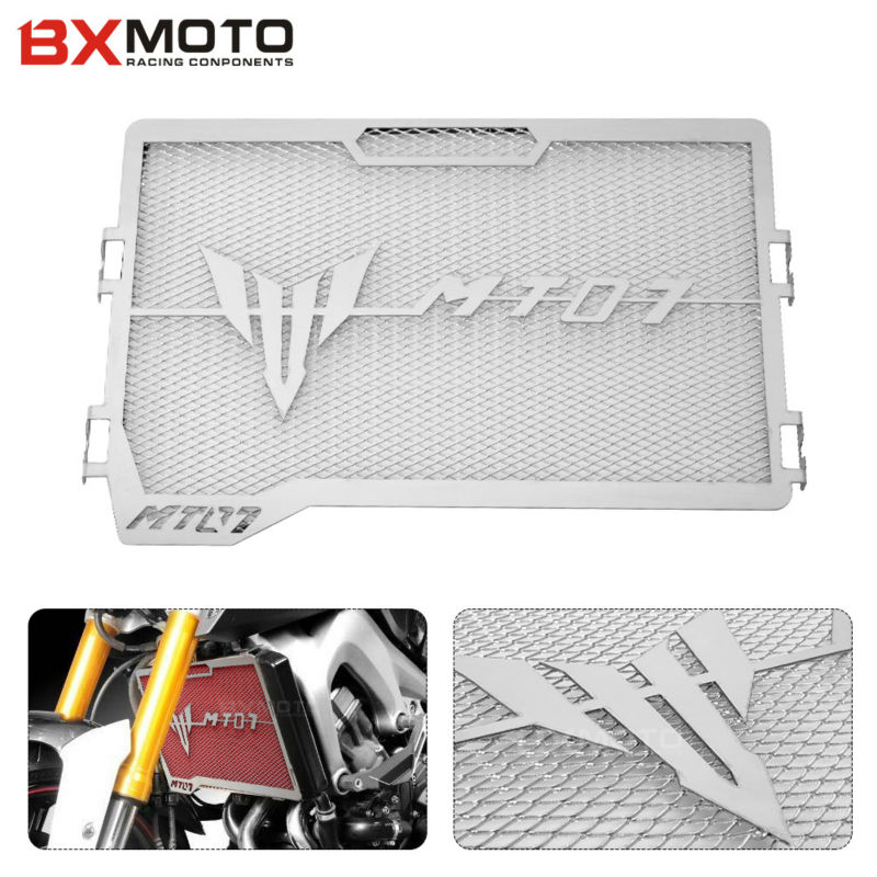 Motorcycle Engine Radiator Grille Guard Cover Protector For Yamaha MT07 MT-07 MT 07 2014 2015 2016<br>