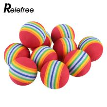 Relefree 2016 Hot Sale 10Pcs Rainbow EVA Foam Sponge Golf Tennis Ball Swing Practice Training Aid