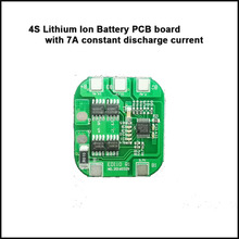 4S Lithium ion battery PCB board 16.8V  protection circuit board with 7A constant charge and discharge current