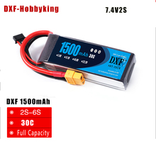 Buy 2017 DXF Power High lipo battery 7.4v 1500mAh 2S 30C rc helicopter rc car rc boat quadcopter Li-Polymer battey for $14.15 in AliExpress store