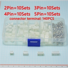 40 sets Kit in box 2p 3p 4p 5 pin 2.54mm Pitch Terminal / Housing / Pin Header Connector Wire Connectors Adaptor XH Kits