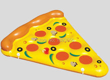 Summer Funny Water Play Equipment Giant Inflatable Pizza 1.8m FREE PVC Ride-On Pool Float Life Raft Pizza Swimming Air Mattress(China)