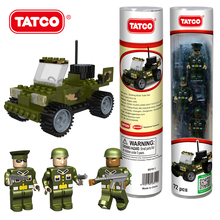 TATCO 100pcs Military Arme Jeep Car Building Block Sets Baby Educational  Block DIY Brick Game War Toys For Kids Best Gifts