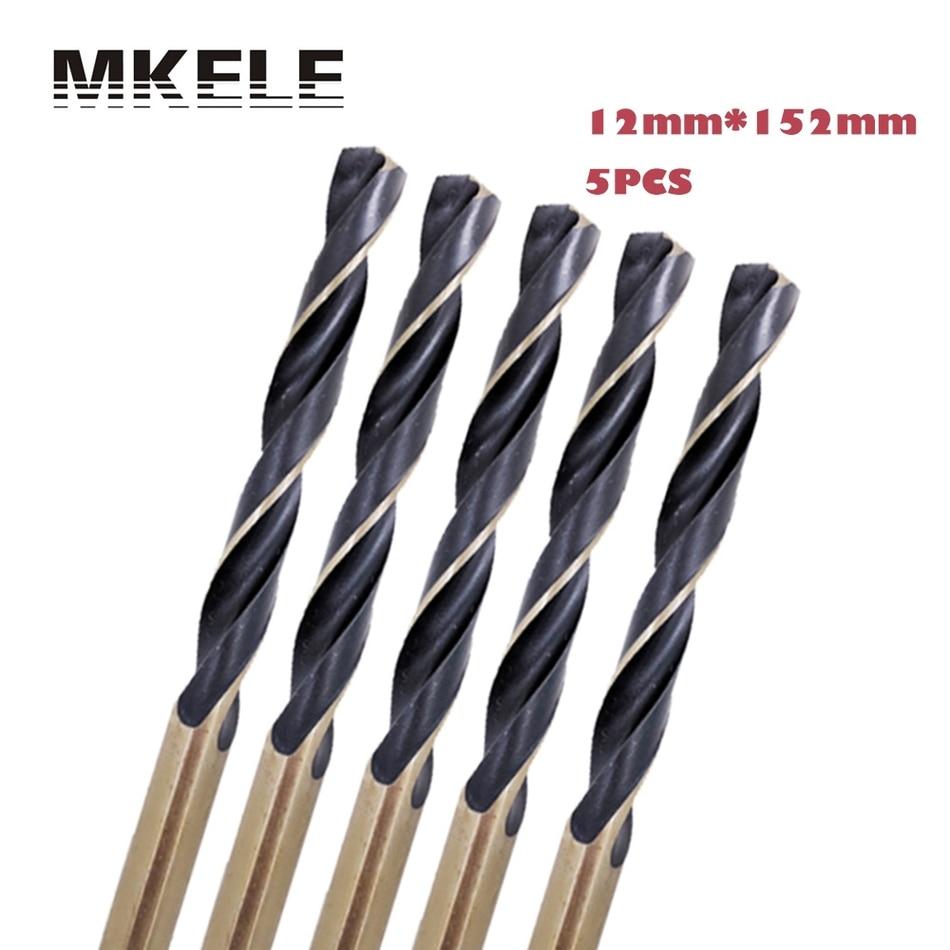 New 5pcs/box 12mm Straight Shank HSS High Steel Twist Drill Bit Woodworking For Metal Herramientas Power Tools Ferramentas<br>