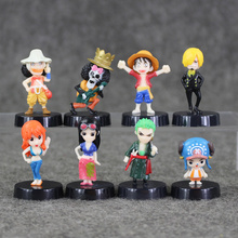 8pcs/lot 5cm Anime One Piece Mini Action Figures The Straw Hats Luffy Roronoa Zoro Sanji Chopper Figure Toys(China)