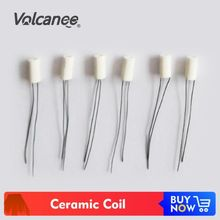 PKR 534.79  21%OFF | Volcanee 10Pcs Ceramic Coil Heating 1.2ohm 1.6ohm 1.8ohm Oil Absorb for E Cigarette Vape DIY CBD Premade Ceramic Core