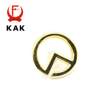KAK New Design Gold Color 40mm Diameter Knobs Cupboard Drawer Pull Wardrobe Zinc Alloy Handles With Screws Furniture Hardware