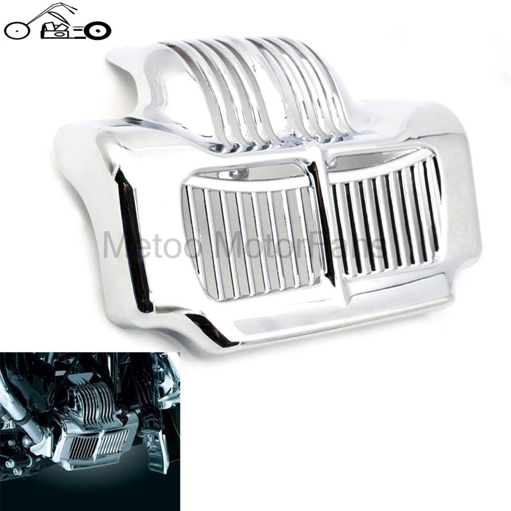 Motorcycle New Chrome Stock Oil Cooler Cover for Harley Touring Models Road Street Electra Glide Trikes 2011-2015 2014 2013 2012<br><br>Aliexpress