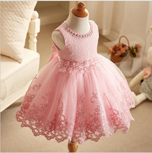 Girl Dress pink/blue/lavender Tulle Wedding Party Dress Summer Princess Dresses Clothes Ball Gown with Flowers