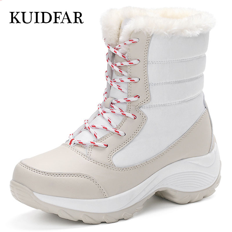 KUIDFAR Women Boots Keep Warm Women Shoes Winter Flock Fur Snow Boots Plush Round Toe Ankle Boots Winter<br>