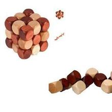 Wooden Puzzle Cube Cute Decoration Magic Cube 4.5cm 3x3x3 Snake Shape Cube Toy for Kids Educational