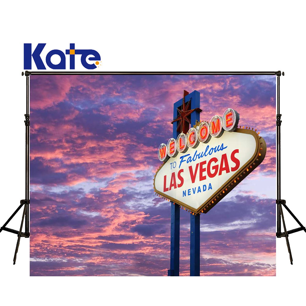 KATE 5x7ft Photography Backdrops Scenery Sunset Backdrop Las Vegas Billboards Background Casino Party Backdrop for Man<br>