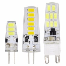 5W 8W 10W 5730 SMD G4 dc 12v G9 ac 220v 230v Mini LED Light Crystal Chandelier Lampada LED Lights 360 Degree Lighting Bulb(China)