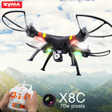 SYMA X8C Drone With Camera HD 2.4G 4CH 6 Axis Drone Professional RC Quadcopter shatter resistant Toy Birthday Gift Black Color(China)