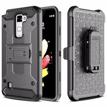 For LG G Stylo 2 Stylus 2 LS775 K520 PC + Silicone Heavy Duty Military Defender Belt Clip Strap Case For LG LS775 Impact Cover