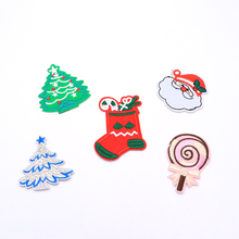 2pcs/lot Sewing Clothes Gun Patch Iron On Embroidery Patches Hotfix Applique Motifs Garment Stickers Christmas Tree Lollipop(China)