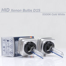 Free shipping Factory sale 2 pcs 100% OEM D1S Xenon BULB  Cold Blue 5500K bulb lamp HID headlight for all cars with box