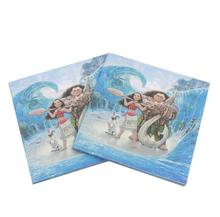 20pcs Moana paper napkins birthday party decoration party supplies Moana towel Moana paper tissues for 20 people use(China)
