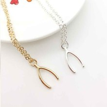 Sale  gold and sliver Wishbone necklace Gold Dainty Necklace  Simple Gold wish bone Necklace accessories  best gift for woman