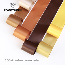 [TOGETHER]Ribbon series(Plain)Free shipping yellow-brown flower wrap silk ribbon floral package florist supplies DIY gift riband