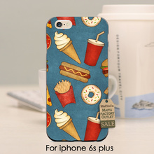 MaiYaCa soft black tpu silicone Fast Food ice cream hotdog Donuts Hamburg Cute Phone Accessories For iPhone se 5s 6s 7 plus case