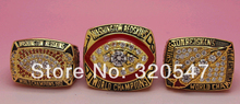 A Set(3 Pcs) Year 1982 1987 1991 Washington Redskins Super Bowl World Championship Copper Ring 9-13Size Fans Gift Collection(China)