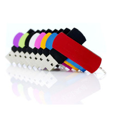 full colours 100 pcs /lot , metal swivel usb 2.0 flash drive , pen drive / customized laser print company logo gift  4-32GB