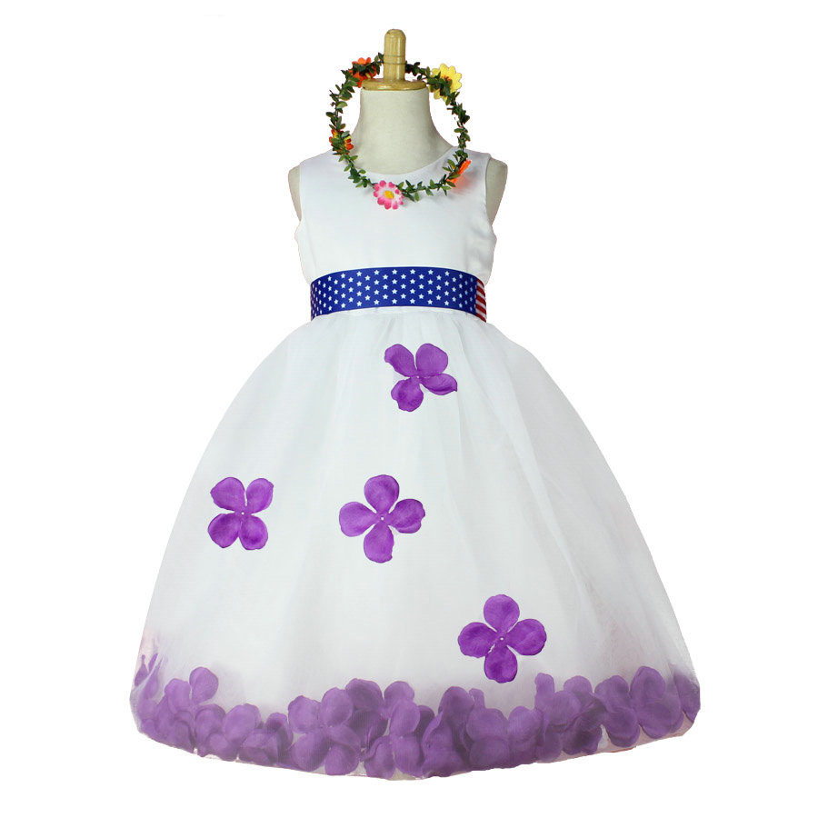high quality kids clothes for sale 2017 green flower kids wedding dresses (without wreath)<br><br>Aliexpress