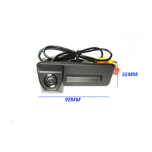 92*35mm for Skoda Octavia Fabia Camera Trunk handle Switch car reverse rear view parking camera 1090K 100% Real HD CCD