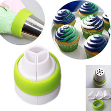 3-Color Icing Piping Bag Russian Nozzle Converters Coupler Cake Decorating Tools Free Shipping(China)