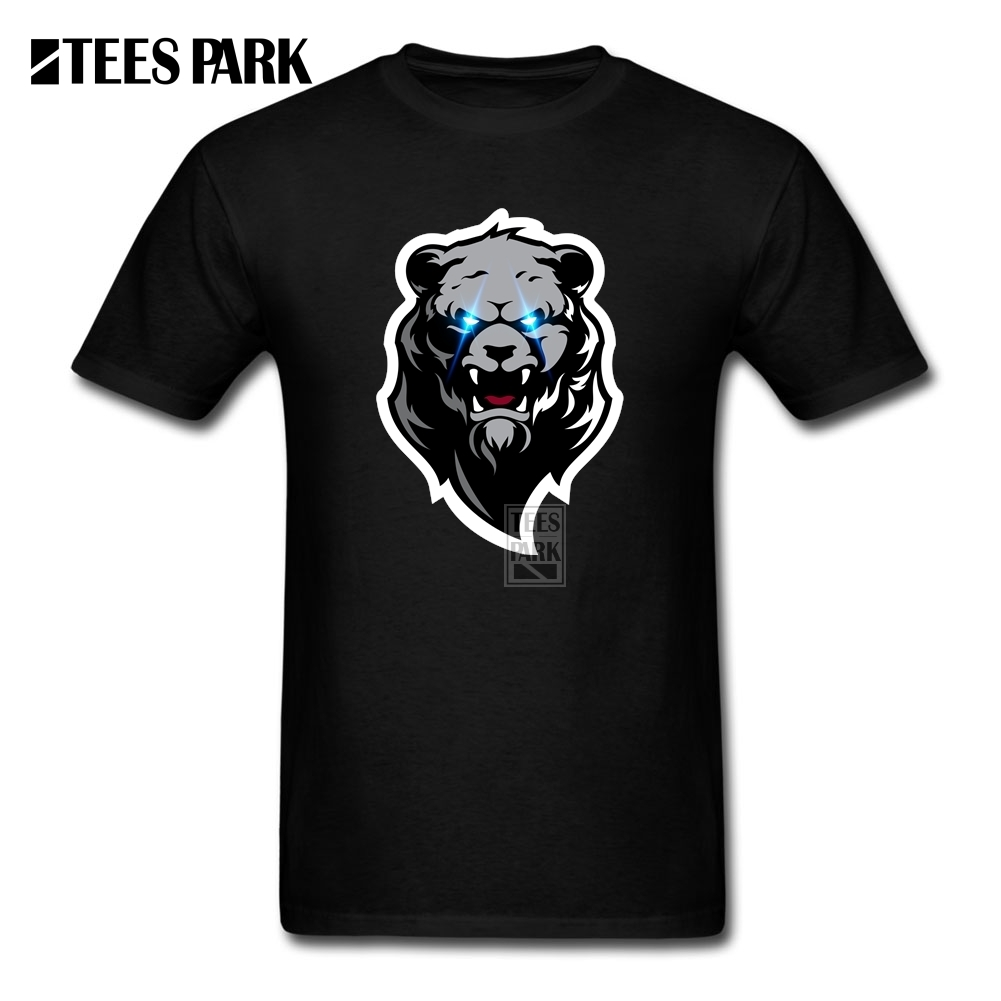 Hot T-Shirt Plus Size CRAZY ZOMBIE GRIZZLY BEAR Mens Natural Cotton Short Sleeve Tshirs Brand Homme Awesome T Shirts(China (Mainland))