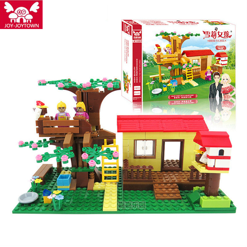 JOY-JOYTOWN Building Bricks Compatible Lepine Friends Blocks Adventure Camp Tree House Emma Mia Figure Toy For Children XD12<br>