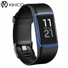 KINCO Smart Barcelet Bluetooth Heart Rate/Sleep Monitor 50M Waterproof Touch Screen GPS Weather Shows USB Charging IOS/Android(China)
