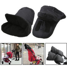 Baby Pram Stroller Winter Accessory Hand Muff Warm Fur Fleece Gloves Pushchair Hand Muff Baby Buggy Clutch Cart Muff Glove(China)