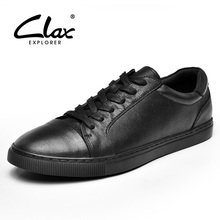 Buy CLAX Men's Genuine Leather Shoes 2017 Autumn Shoe Male Black Casual Footwear Leisure Shoe Flat Walking Shoe Soft Comfortable for $45.80 in AliExpress store