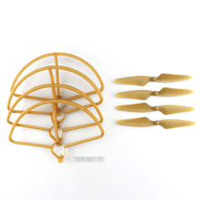 8pcs Original Hubsan H501S H501C RC Quadcopter Sapre Parts 4PCS CW/CCW Propellers + 4PCS Protection Cover Props Sets D25