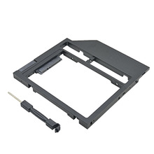 "New Universal Plastic HDD Caddy 9mm 9.5mm SATA 3.0 2.5 "" SSD Case Laptop CD/DVD ROM Optibay(China)"
