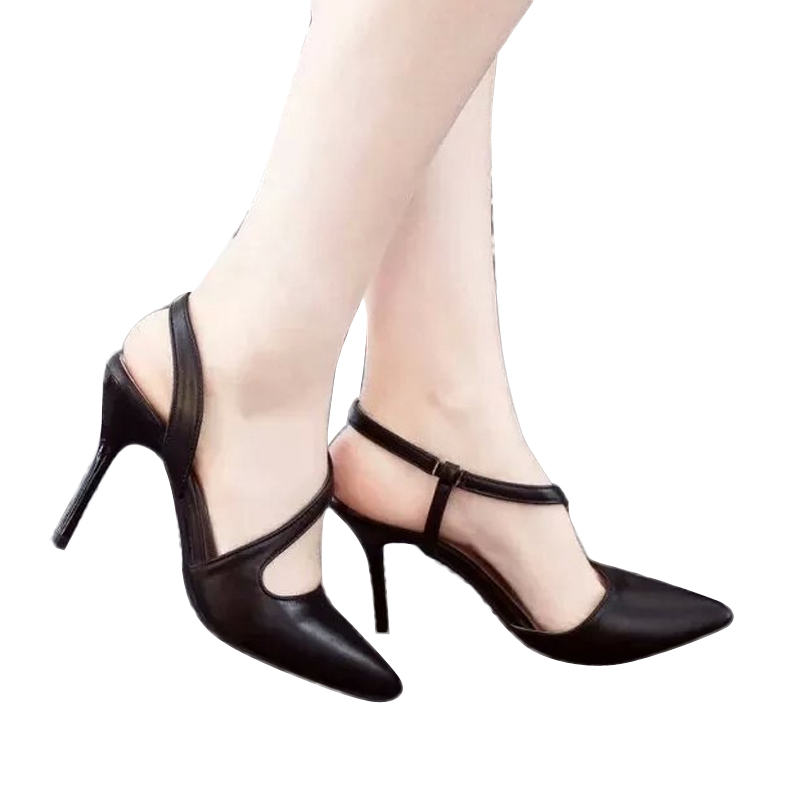 2017 Summer Pointed Woman Sandals Fine With High-heeled Shoes Elegant career sweet Woman Sandals ST57<br><br>Aliexpress