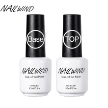 NAILWIND 9.2ML Top Coat and Base Coat Gels Nail Polish Long-acting Shiny Sealant Manicure Set Top Bottom Nail Primer(China)