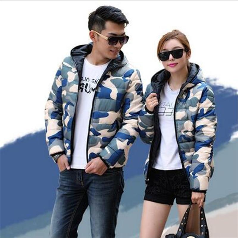 Korea 2017 Winter Latest Fashion Women Coat Hooded Thicken Warm Couples Camouflage Slim Big yards Short Cotton Down Jacket A0911Одежда и ак�е��уары<br><br><br>Aliexpress