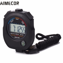 Aimecor NEW Waterproof Digital LCD Stopwatch Chronograph Timer Counter Sports Alarm erkek kol saat relogioi drop shipping