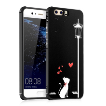 Cartoon Soft Silicone case Huawei P10,Ultra Thin Back Cover Case For Huawei P10 Plus Cell Phone Protective Anti-knock Armor(China)