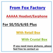 50pcs/Genuine AAAAA Quality from factory headset in ear headphones With Remote line Mic for iphone 5s 5c 6 6S plus(China)
