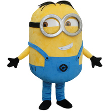 on sale! free shipping, Despicable minion mascot costume for adults despicable mascot costume(China)