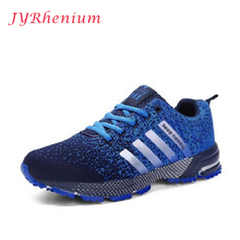 JYRhenium 2017 Men Women Running Shoes Autumn mesh lovers Sneakers,Fly Weave Light Breathable Sport Shoes Comfortable Sneakers